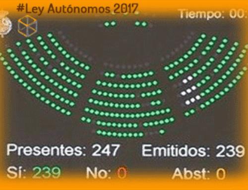 Ley de Autónomos aprobada hoy en el Senado por unanimidad.