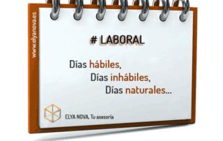 LABORAL: Días hábiles, días Inhábiles y días Naturales.