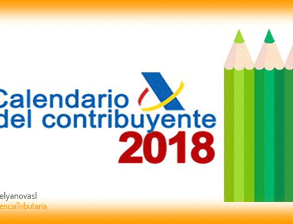 Calendario del Contribuyente 2018 Calendario Tributario