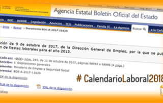 Calendario Laboral 2018