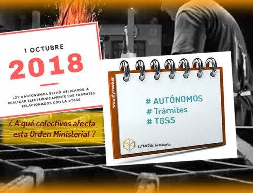 Los trabajadores Autónomos y la obligación de realizar sus trámites por vía telemática desde el 1 de octubre.