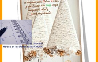 Horario de Navidad ELYA NOVA