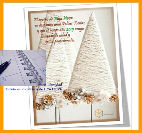 Horario de Navidad en las oficinas de ELYA NOVA