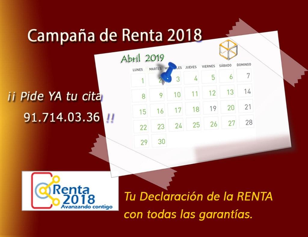 La Campaña de la Renta 2018.