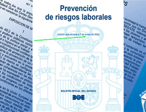 Novedades sobre Prevención de Riesgos Laborales enero 2020