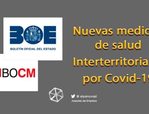 Nuevas medidas de sanidad interterritoriales para controlar las infecciones por Covid-19