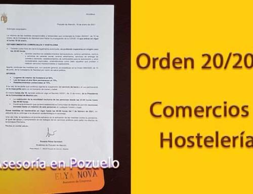 Tu asesoría en Pozuelo: Todo sobre las medidas excepcionales de la Orden 20/2021