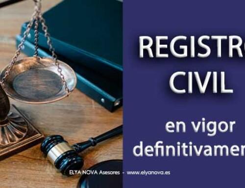 Luz verde al nuevo Registro Civil
