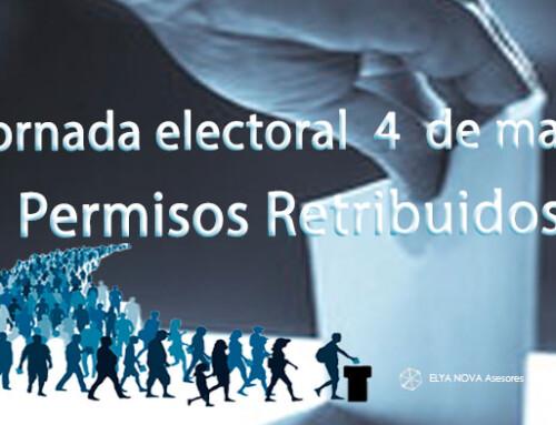 Los permisos retribuidos para votar en las elecciones a la Asamblea de Madrid el 4 de mayo de 2021