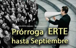 prórroga ERTE septiembre bonificaciones cese actividad