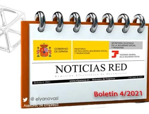 Publicado el Boletín de Noticias del sistema RED 2021-4 (BNR 4/2021)