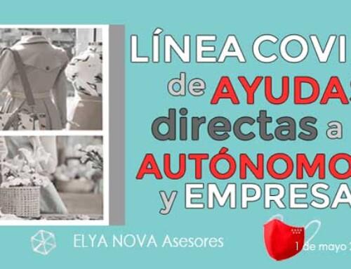 Línea COVID-19 de ayudas directas a autónomos y empresas de la Comunidad de Madrid, financiada por el Gobierno de España.