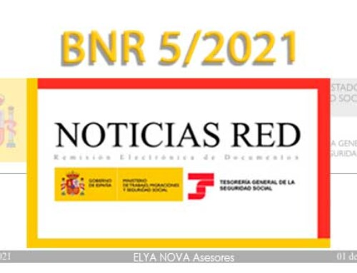 La Seguridad Social ha publicado el Boletín de Noticias RED 5/2021 (BNR 5/2021)