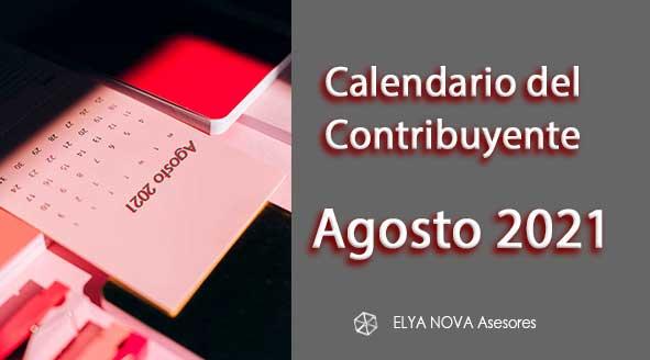Calendario Contribuyente agosto 2021