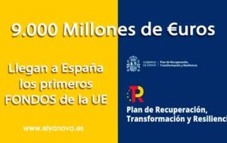 Primeros Fondos europeos plan recuperación