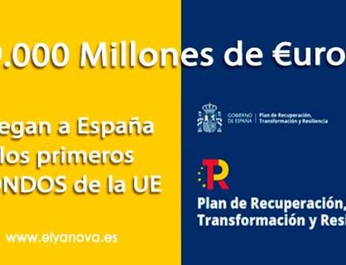 Llegan a España los primeros Fondos europeos del Plan de Recuperación.