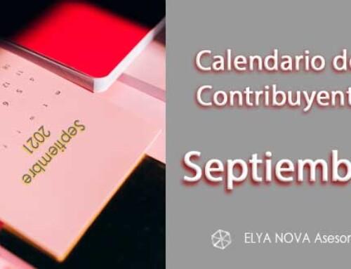 Calendario del contribuyente del mes de septiembre de 2021