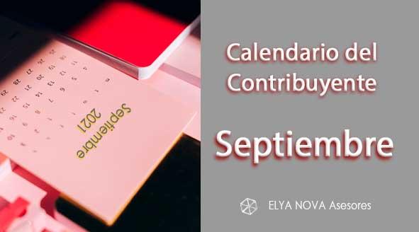 Calendario contribuyente septiembre 2021