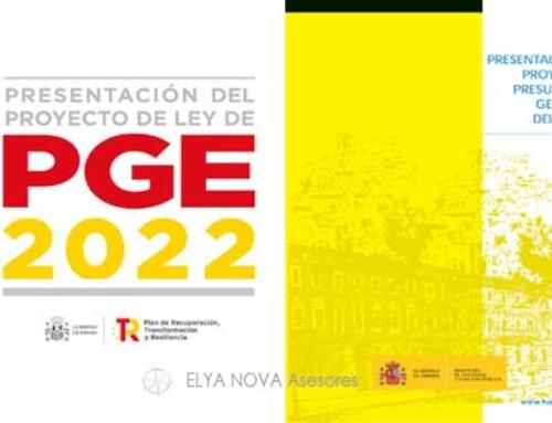 Los presupuestos generales del Estado PGE 2022.